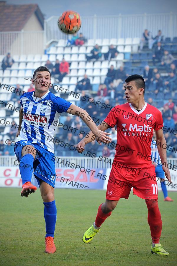 Fudbal Jelen Super League season 2016-2017<br /> Novi Pazar v Javor<br /> Enver Alivodic (L) i Husniddin Gafurov (D)<br /> Novi Pazar, 26. 11. 2016<br /> foto: Emir Sadovic/Starsportphoto &copy;