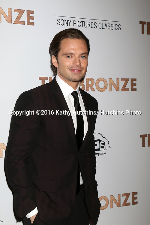 LOS ANGELES - MAR 7:  Sebastian Stan at the The Bronze Premiere at the SilverScreen Theater at the Pacific Design Center on March 7, 2016 in Los Angeles, CA
