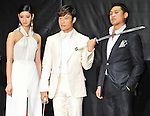 """Nanao,  Byung-hun Lee and Jon M. Chu, May 27, 2013 : Tokyo, Japan : (L-R)Japanese model Nanao, actor Byung hun Lee and director Jon M. Chu attend the Japan premiere for the film """"G.I.Joe:Retaliation"""" in Tokyo, Japan, on May 27, 2013. The film will open on June 7 in Japan. (Photo by Keizo Mori/AFLO)"""
