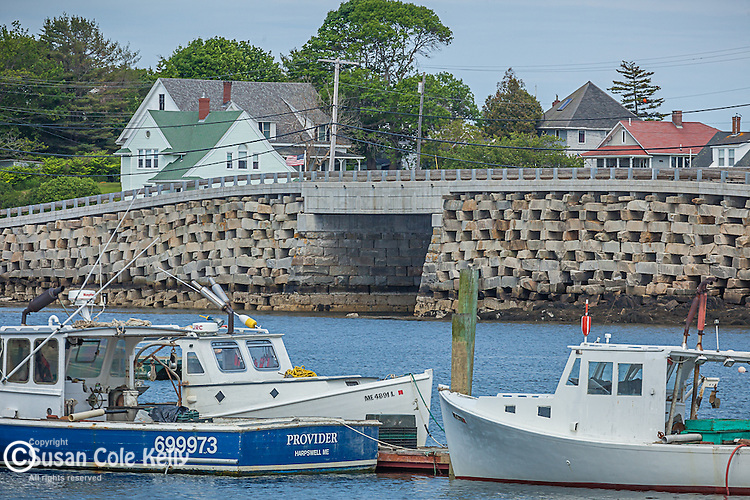 The Cribstone Bridge between Orr's Island and Bailey's Island in Harpswell, Maine, USA