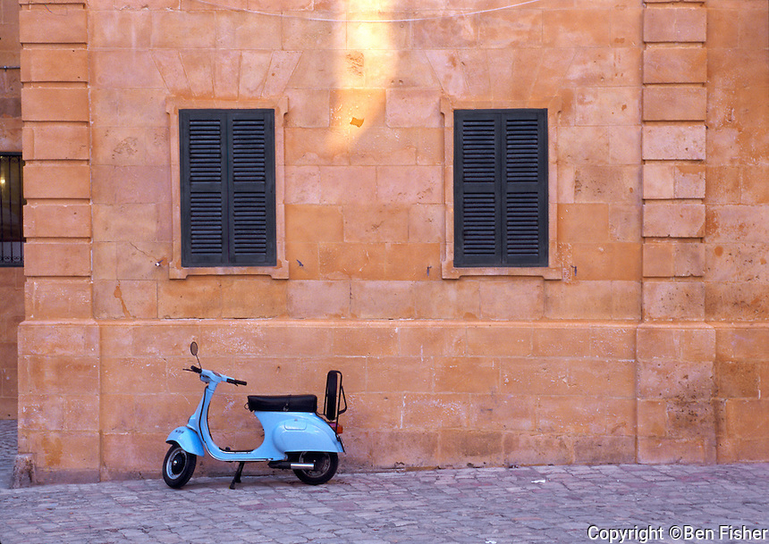 Blue moped Spain
