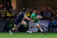 Marcus Smith of Harlequins and Arthur Iturria of Clermont during the Challenge Cup semi final match between ASM Clermont and Harlequins on April 20, 2019 in Clermont-Ferrand, France. (Photo by Romain Biard/Icon Sport)