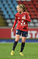 2018013 - LILLE , FRANCE : LOSC's Silke Demeyere pictured during the women soccer game between the women teams of Lille OSC and Paris Saint Germain  during the 13 th matchday for the Championship D1 Feminines at stade Lille Metropole , Saturday 13th of January ,  PHOTO Dirk Vuylsteke | Sportpix.Be