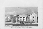 Highbury College, south west front, engraving from 'Metropolitan Improvements, or London in the Nineteenth Century' London, England, UK 1828