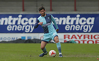 Joe Jacobson of Wycombe Wanderers during the Sky Bet League 2 match between Morecambe and Wycombe Wanderers at the Globe Arena, Morecambe, England on 29 April 2017. Photo by Stephen Gaunt / PRiME Media Images.