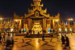 Shwedagon Pagoda at night. Myanmar.