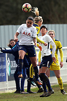 Bianca Baptiste of Tottenham Ladies and Emily Allren of Oxford United Ladies during Tottenham Hotspur Ladies vs Oxford United Women, FA Women's Super League FA WSL2 Football at Theobalds Lane on 11th February 2018