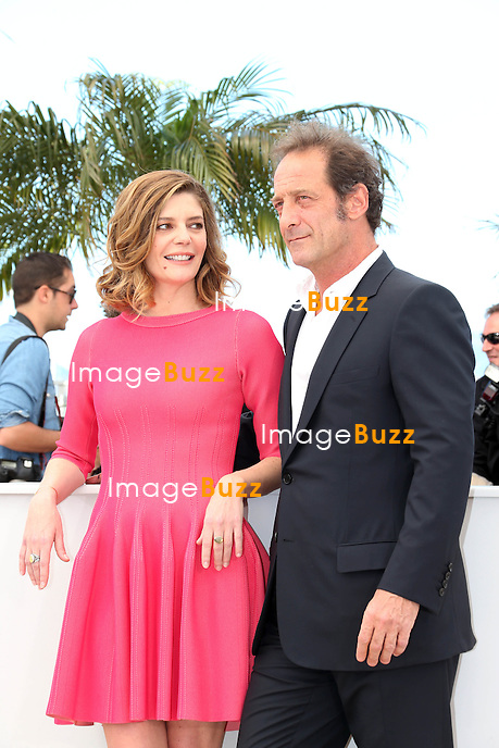 CPE/CANNES, FRANCE - MAY 22: Actress Chiara Mastroianni and actor Vincent Lindon attend the photocall for 'Les Salauds' (Bastards) during The 66th Annual Cannes Film Festival at the Palais des Festivalson May 22, 2013 in Cannes, France.
