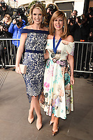 Charlotte Hawkins and Kate Garaway<br /> arriving for the TRIC Awards 2016 at the Grosvenor House Hotel, Park Lane, London<br /> <br /> <br /> &copy;Ash Knotek  D3095 08/03/2016
