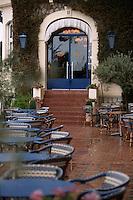 France/06/Alpes Maritimes/Juan-les-Pins: Hotel Belles- Rives la terrasse