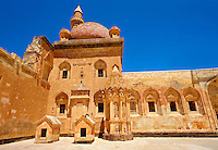 Courtyard of the 18th Century Ottoman architecture of the Ishak Pasha Palace (Turkish: İshak Paşa Sarayı) ,  Ağrı province of eastern Turkey.