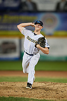 Trenton Thunder pitcher Brooks Kriske (62) during an Eastern League game against the New Hampshire Fisher Cats on August 20, 2019 at Arm & Hammer Park in Trenton, New Jersey.  New Hampshire defeated Trenton 7-2.  (Mike Janes/Four Seam Images)