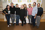 Kristen Anderson-Lopez, Deke Sharon, Rick Hip-Flores, Kathleen Marshall, Sara Wordsworth, James-Allen Ford, Russ Kaplan, David Eggers attend the photo Call for 'InTransit' at The New 42nd Street Studios on October 27, 2016 in New York City.