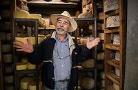 Tito Cortes and his cheese dairy farm, Valle de Guadalupe, Baja California Norte, Mexico