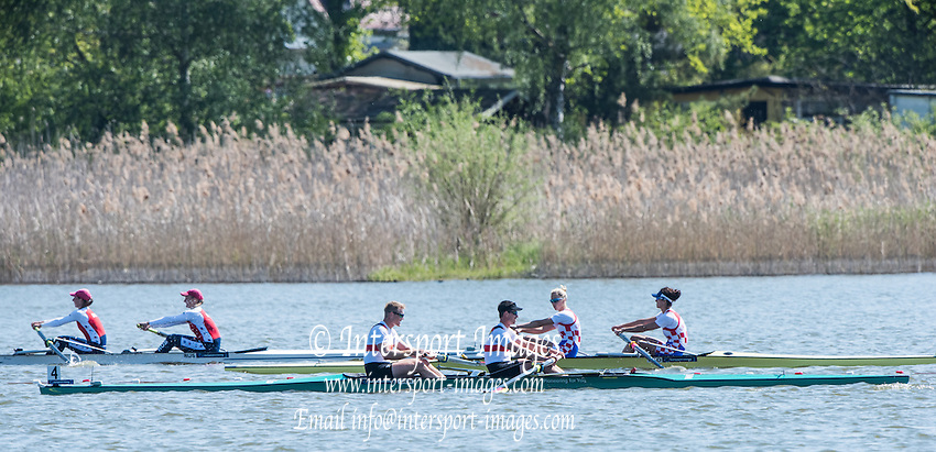 Brandenburg. GERMANY. GBR M2-. Bow Alan SINC:AIR and Stewart INNES. <br /> 2016 European Rowing Championships at the Regattastrecke Beetzsee<br /> <br /> Saturday  07/05/2016<br /> <br /> [Mandatory Credit; Peter SPURRIER/Intersport-images]