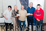 Lough Lein Anglers Charity Competition Cheque presentation to St Francis Special School Beaufort and Mallow Special Olimpics Club in the Dromhall Hotel, Killarney last Sunday night. pictured l-r Nicola Dwyer and Jackie O'Mahony  (Mallow Special Olimpics Club), John Lyne (Chairman of Lough Lein Anglers), Liam Twomey (principal St Francis Special School, Beaufort) and Colm O'Mahony (Mallow Special Olimpics Club).