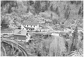 View showing upper area of Ophir and RGS Bridge 45-B.<br /> RGS  Ophir, CO  Taken by Reid, Homer - ca 1946