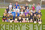 The 9-10 aged players who took part in the Dr Crokes Easter camp in Lewis Road, Killarney on Wednesday pictured with coachesDerek Maye, Ryan Patten, Conor O'Neill, Erica McCarthy and Eric O'Connor...