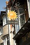 Sign for the Sun Inn, Weymouth, Dorset, England