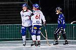 Uppsala 2013-11-20 Bandy Elitserien IK Sirius - Edsbyns IF :  <br /> Edsbyn Daniel Liw jublar med Edsbyn Daniel Jonsson efter sitt 2-1 m&aring;l<br /> (Foto: Kenta J&ouml;nsson) Nyckelord:  jubel gl&auml;dje lycka glad happy