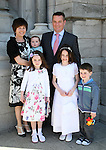 Roisín Kearney and family at the Scoil Aonghusa Communion in St.Peters Church...Photo NEWSFILE/Jenny Matthews.(Photo credit should read Jenny Matthews/NEWSFILE)....This Picture has been sent you under the condtions enclosed by:.Newsfile Ltd..The Studio,.Millmount Abbey,.Drogheda,.Co Meath..Ireland..Tel: +353(0)41-9871240.Fax: +353(0)41-9871260.GSM: +353(0)86-2500958.email: pictures@newsfile.ie.www.newsfile.ie.FTP: 193.120.102.198.