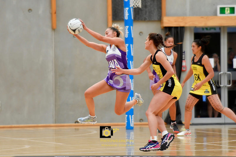 Stars&rsquo; Mila Reuelu-Buchanan in action during the Netball Pre Season Tournament - Pulse v Stars at Ngā Purapura, Otaki, New Zealand on Saturday 9 February  2019. <br /> Photo by Masanori Udagawa. <br /> www.photowellington.photoshelter.com