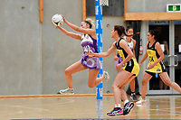 Stars&rsquo; Mila Reuelu-Buchanan in action during the Netball Pre Season Tournament - Pulse v Stars at Ngā Purapura, Otaki, New Zealand on Saturday 9 February  2019. <br />