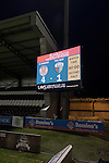 St Mirren 4 The New Saints 1, 19/02/2017. Paisley 2021 Stadium, Scottish Challenge Cup. The electronic scoreboard displays the final score at the Paisley2021 Stadium after Scottish Championship side St Mirren played Welsh champions The New Saints in the semi-final of the Scottish Challenge Cup for the right to meet Dundee United in the final. The competition was expanded for the 2016-17 season to include four clubs from Wales and Northern Ireland as well as Scottish Premier under-20 teams. Despite trailing at half-time, St Mirren won the match 4-1 watched by a crowd of 2044, including 75 away fans. Photo by Colin McPherson.