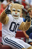 Landover, MD - September 23, 2016: BYU Cougars mascot during game between BYU and WVA at  FedEx Field in Landover, MD.  (Photo by Elliott Brown/Media Images International)