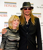 """Robert """"Kid Rock"""" Ritchie and his Mom, Susan Ritchie, arrive for the formal Artist's Dinner honoring the recipients of the 2012 Kennedy Center Honors hosted by United States Secretary of State Hillary Rodham Clinton at the U.S. Department of State in Washington, D.C. on Saturday, December 1, 2012. The 2012 honorees are Buddy Guy, actor Dustin Hoffman, late-night host David Letterman, dancer Natalia Makarova, and the British rock band Led Zeppelin (Robert Plant, Jimmy Page, and John Paul Jones)..Credit: Ron Sachs / CNP"""