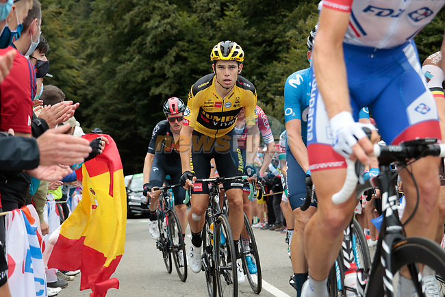 Wout Van Aert (BEL) Team Jumbo-Visma climbs Col de Marie Blanque during Stage 9 of Tour de France 2020, running 153km from Pau to Laruns, France. 6th September 2020. <br /> Picture: Colin Flockton | Cyclefile<br /> All photos usage must carry mandatory copyright credit (© Cyclefile | Colin Flockton)
