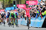 Nacer Bouhanni (FRA) Cofidis wins Stage 2 of the Tour de Yorkshire 2017 running 122.5km from Tadcaster to Harrogate, England. 29th April 2017. <br /> Picture: ASO/A.Broadway | Cyclefile<br /> <br /> <br /> All photos usage must carry mandatory copyright credit (&copy; Cyclefile | ASO/A.Broadway)