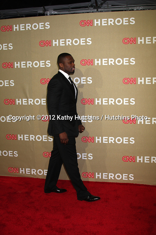 LOS ANGELES - DEC 2:  50 Cent, aka Curtis Jackson arrives to the 2012 CNN Heroes Awards at Shrine Auditorium on December 2, 2012 in Los Angeles, CA