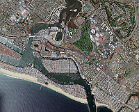 aerial map Newport Beach, Orange County, California