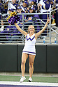 SEATTLE, WA - SEPTEMBER 14: Washington Cheer member Courtney Porter entertained fans during the college football game between the Washington Huskies and the Hawaii Rainbow Warriors on September 14, 2019 at Husky Stadium in Seattle, WA.