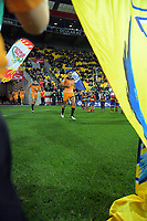 Jaguares captain Jeronimo De La Fuente leads the Jaguares out during the Super Rugby match between the Hurricanes and Jaguares at Westpac Stadium in Wellington, New Zealand on Friday, 17 May 2019. Photo: Dave Lintott / lintottphoto.co.nz