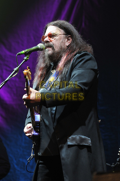 Roy Wood.performing live in concert, o2 Arena, Greenwich, London, England. .11th December 2011.on stage gig performance music half length black suit guitar beard facial hair glasses side profile .CAP/MAR.© Martin Harris/Capital Pictures.