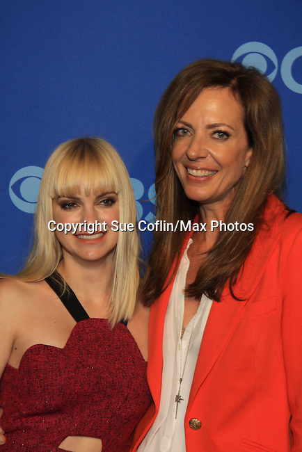 "Anna Faris and Allison Janney of ""Mom"" at the CBS Upfront on May 15, 2013 at Lincoln Center, New York City, New York. (Photo by Sue Coflin/Max Photos)"