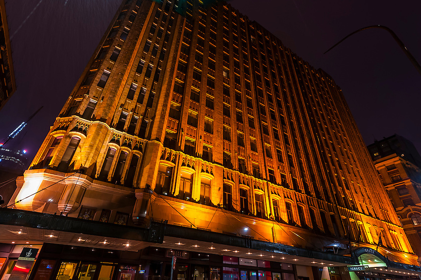 The Grace Hotel at night an Art Deco building Central Business
