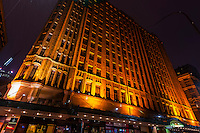 The Grace Hotel at night (an Art Deco building), Central Business DIstrict, Sydney, New South Wales, Australia
