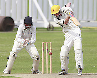 Ted Greally bats for North London during the Middlesex County Cricket League Division Three game between Highgate and North London at Park Road, Crouch End on Sat July 12, 2014