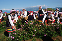 Dancers and local people wearing folkloric clothing participate in a rose-picking ritual, a celebration of the rose harvest in the Rose Valley on June 1, 2019.