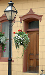 Door street light and flowers Georgetown Colorado door flowers and street light, US State of Colorado, door, Rocky Mountain region, Fine Art Photography by Ron Bennett, Fine Art, Fine Art photography, Art Photography, Copyright RonBennettPhotography.com ©