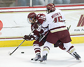 James Marcou (UMass - 19), Joe Whitney (BC - 15) - The Boston College Eagles defeated the University of Massachusetts-Amherst Minutemen 5-2 on Saturday, March 13, 2010, at Conte Forum in Chestnut Hill, Massachusetts, to sweep their Hockey East Quarterfinals matchup.