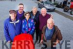 Attending the Threshing Festival in Blennerville on Sunday.<br /> L-r, Tim Brown (Ballyduff), John Kerins (Blennerville), Ann Quane (Kilmoyley), Eddie McElligott (Kilmoyley), John Quane (Kilmoyley) and Paddy O&rsquo;Donnell.