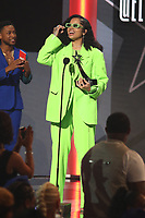 LOS ANGELES, CA - JUNE 23: Ella Mai at the 2019 BET Awards Show at the Microsoft Theater in Los Angeles on June 23, 2019. Credit: Walik Goshorn/MediaPunch