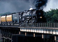 Challenger 3985 - World's largest Steam Locomotive Heading Out. Houston Texas USA.