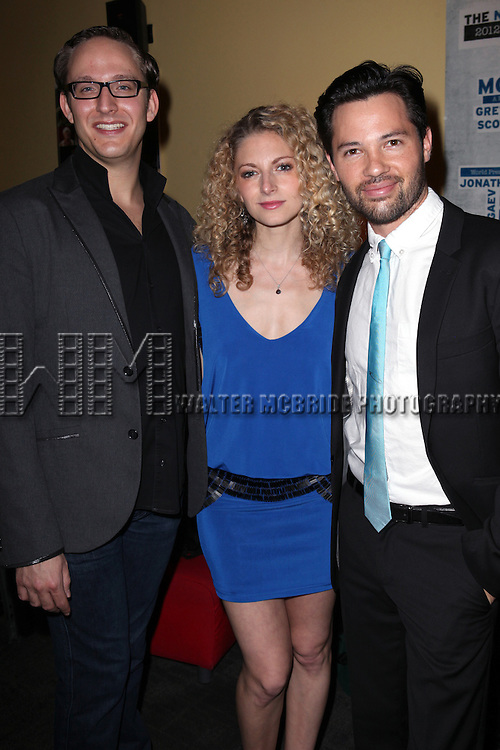 Musical Director John Bell, Lauren Molina and Jason Tam attend the opening night performance reception for the Keen Company production of Marry Me A Little at the Clurman Theatre in New York City on10/2/2012.