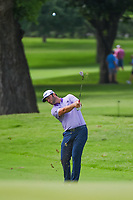 Jon Rahm (ESP) hits his approach shot on 2 during round 2 of the 2019 Charles Schwab Challenge, Colonial Country Club, Ft. Worth, Texas,  USA. 5/24/2019.<br /> Picture: Golffile   Ken Murray<br /> <br /> All photo usage must carry mandatory copyright credit (© Golffile   Ken Murray)