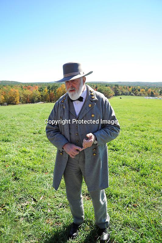 Civil War Reenactment General Robert E. Lee in Uniform